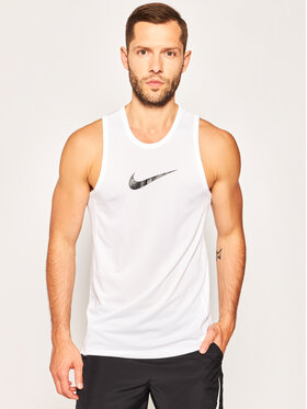 NIKE NIKE T-shirt technique Dri-FIT Crossover BV9387 Blanc Regular Fit
