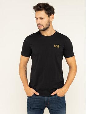 EA7 Emporio Armani EA7 Emporio Armani T-Shirt 8NPT51 PJM9Z 0208 Czarny Regular Fit