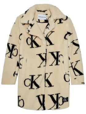 Calvin Klein Jeans Calvin Klein Jeans Kurtka zimowa Teddy IG0IG00705 Beżowy Regular Fit
