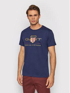 Gant Gant T-Shirt Archive Shield 2003099 Granatowy Regular Fit