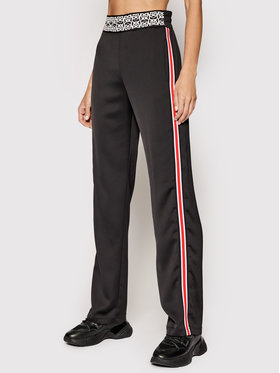 Pinko Pinko Pantalon en tissu Tecnica Noir Regular Fit