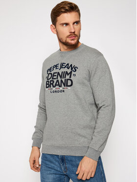 Pepe Jeans Pepe Jeans Mikina Harrison PM581843 Sivá Regular Fit
