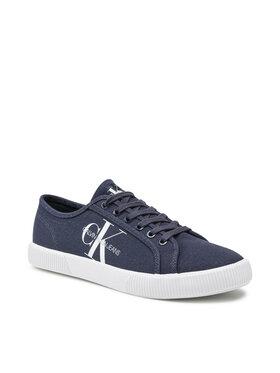 Calvin Klein Jeans Calvin Klein Jeans Sneakers aus Stoff Vulcanized Sneaker Laceup Co YM0YM00254 Dunkelblau