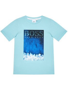 Boss Boss T-Shirt J25L05 S Modrá Regular Fit