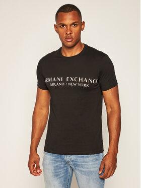 Armani Exchange Armani Exchange Marškinėliai 8NZT72 Z8H4Z 1200 Juoda Slim Fit