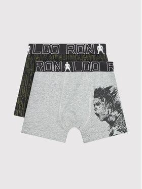 Cristiano Ronaldo CR7 Cristiano Ronaldo CR7 Sada 2 kusů boxerek Trunk 2-Pack 8400-51-564 Šedá