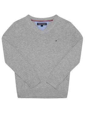 Tommy Hilfiger Tommy Hilfiger Sweter Boys Basic VNeck Sw KB0KB03978 S Szary Regular Fit