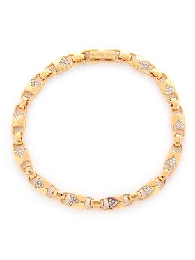 Michael Kors Michael Kors Karkötő Precious Metal-Plated Sterling Silver Pavé Mercer Link Bracelet MKC1004AN791 Arany