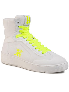 Tommy Hilfiger Sneakersy LEWIS HAMILTON LH Modern High Top Sneaker FM0FM02830 Biela