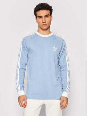 adidas adidas Marškinėliai ilgomis rankovėmis adicolor Classics 3-Stripes H37777 Mėlyna Regular Fit