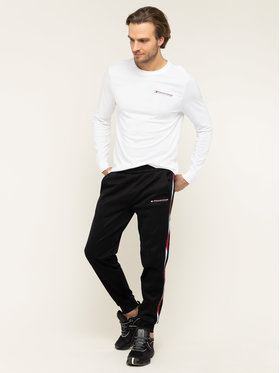 Tommy Sport Tommy Sport Manches longues S20S200313 Blanc Regular Fit