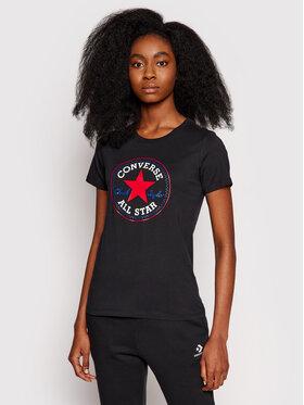 Converse Converse T-Shirt Chuck Taylor Patch Nova 10017759 Czarny Standard Fit