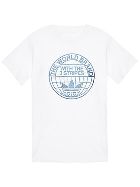 adidas adidas T-Shirt Graphic Print Tee GN4126 Λευκό Regular Fit