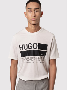 Hugo Hugo T-Shirt Dangri 50438623 Beige Regular Fit