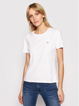 Tommy Jeans Tommy Jeans T-Shirt Tjw Soft Jersey DW0DW06901 Bílá Regular Fit