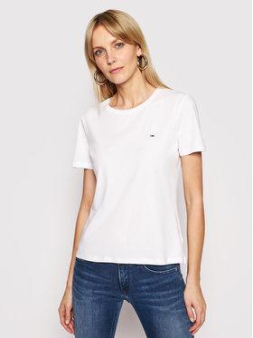 Tommy Jeans Tommy Jeans T-Shirt Tjw Soft Jersey DW0DW06901 Weiß Regular Fit