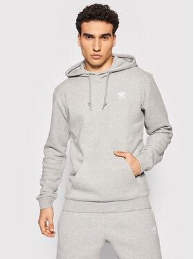 adidas adidas Bluza adicolor Essentials Trefoil H34654 Szary Regular Fit