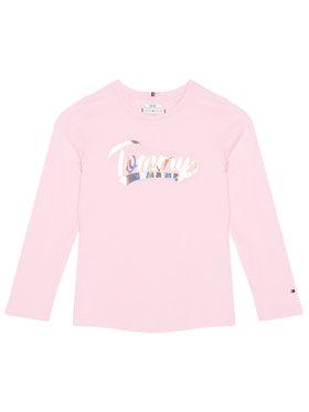 TOMMY HILFIGER TOMMY HILFIGER Μπλουζάκι Script Foil Film Tee KG0KG05501 M Ροζ Regular Fit