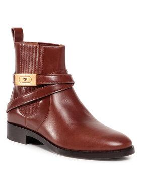 Tory Burch Tory Burch Kotníková obuv s elastickým prvkem 30Mm Chelsea Bootie 74354 Hnědá