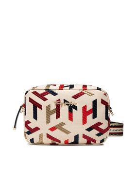 Tommy Hilfiger Tommy Hilfiger Handtasche Iconic Tommy Vamera Bag Embr. AW0AW10371 Beige