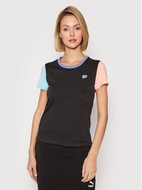 Puma Puma T-Shirt Downtown Small Logo 599657 Μαύρο Regular Fit