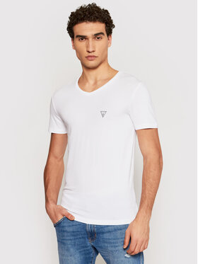 Guess Guess Marškinėliai U97M01 JR003 Balta Slim Fit