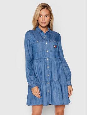Tommy Jeans Tommy Jeans Džínové šaty Chambray DW0DW09847 Modrá Regular Fit