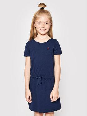 Polo Ralph Lauren Polo Ralph Lauren Kasdieninė suknelė Tie Frnt 312833945008 Tamsiai mėlyna Regular Fit