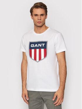 Gant Gant T-Shirt Retro Shield 2003112 Biały Regular Fit