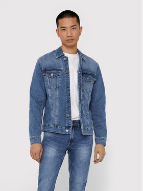 Only & Sons ONLY & SONS Veste en jean Come 22018259 Bleu marine Regular Fit