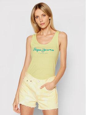 Pepe Jeans Pepe Jeans Marškinėliai Dunia PL504853 Geltona Regular Fit