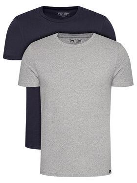 Lee Lee Komplet 2 t-shirtów Twin Pack Crew L680CMLD Granatowy Fitted Fit