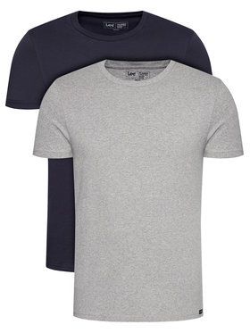 Lee Lee Σετ 2 T-Shirts Twin Pack Crew L680CMLD Σκούρο μπλε Fitted Fit