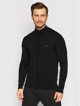 Calvin Klein Calvin Klein Kardigan Es Superior Wool Zip Thru Jacket K10K108196 Černá Regular Fit