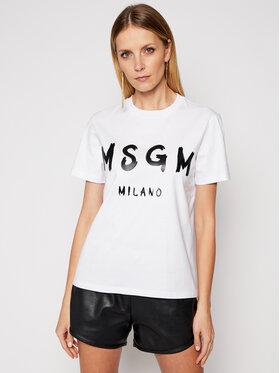 MSGM MSGM T-shirt 3041MDM60 217298 Blanc Regular Fit