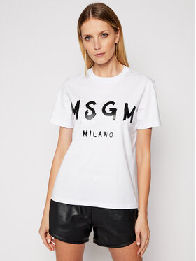 MSGM MSGM Тишърт 3041MDM60 217298 Бял Regular Fit