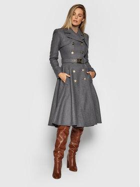 Elisabetta Franchi Elisabetta Franchi Vlnený kabát CP-006-16E2-V1100 Sivá Regular Fit