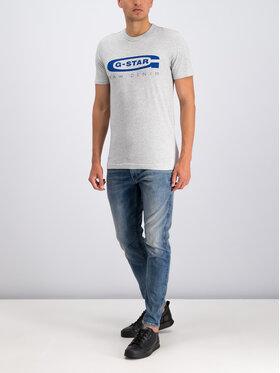 G-Star Raw G-Star Raw T-Shirt D15104-336-A302 Szary Regular Fit