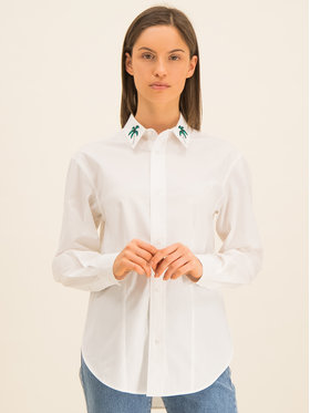 Guess Guess Marškiniai Ls Isa W01H58 WCLQ0 Balta Regular Fit
