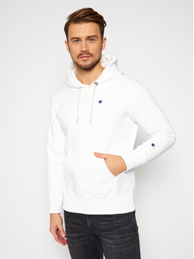 Champion Champion Bluza Hooded 215214 Biały Regular Fit