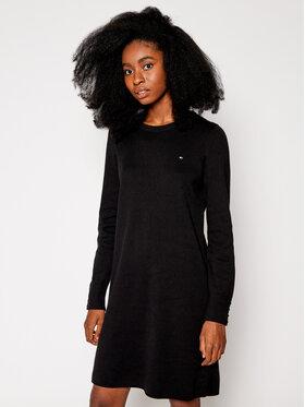 TOMMY HILFIGER TOMMY HILFIGER Úpletové šaty Soft WW0WW29320 Černá Regular Fit