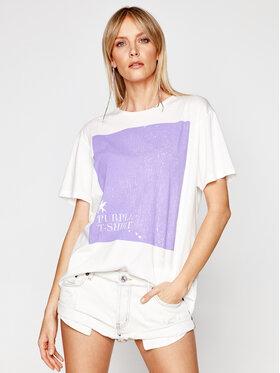 One Teaspoon One Teaspoon T-shirt Bf Tee 23889 Blanc Regular Fit