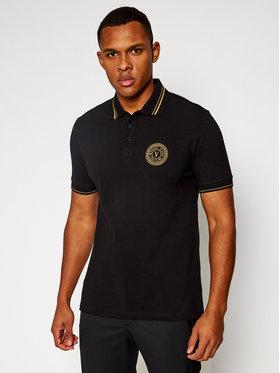 Versace Jeans Couture Versace Jeans Couture Тениска с яка и копчета B3GWA7T3 Черен Slim Fit