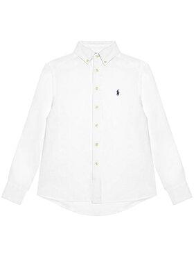 Polo Ralph Lauren Polo Ralph Lauren Πουκάμισο Ls Bd 323832109001 Λευκό Regular Fit