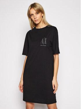 Armani Exchange Armani Exchange Sukienka codzienna 8NYADX YJG3Z 8218 Czarny Regular Fit