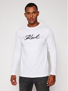 KARL LAGERFELD KARL LAGERFELD Manches longues Crewneck Ls 755042 502224 Blanc Regular Fit