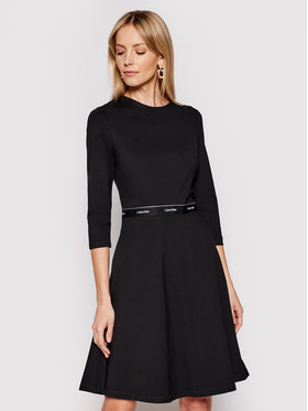 Calvin Klein Calvin Klein Každodenné šaty Milano K20K202571 Čierna Regular Fit