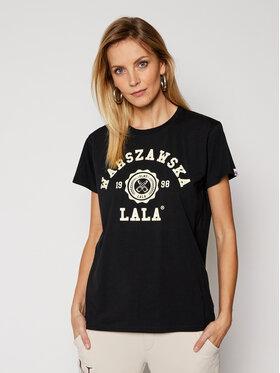 PLNY LALA PLNY LALA T-Shirt Warszawska Lala PL-KO-CL-00203 Schwarz Classic Fit