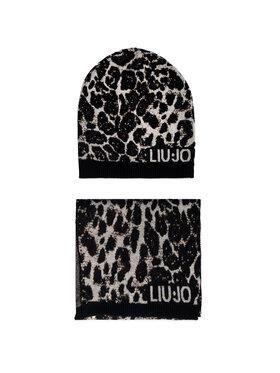 Liu Jo Liu Jo Комплект шал и шапка Coordinato Macula N 2A1021 M0300 Черен