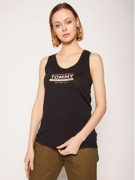 Tommy Jeans Tommy Jeans Felső Logo DW0DW08243 Fekete Regular Fit